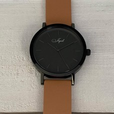 Black With Tan Band Watch