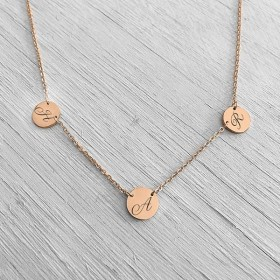 Twin Link Rose Gold Pendant
